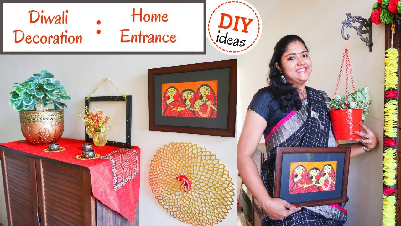 Diwali Decoration Ideas Home Entrance Simple Easy Diy Ideas For Diwali Home Decoration Youtube