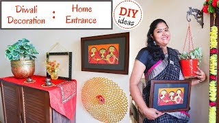 Diwali Decoration Ideas : Home Entrance / Simple Easy DIY Ideas For Diwali Home Decoration