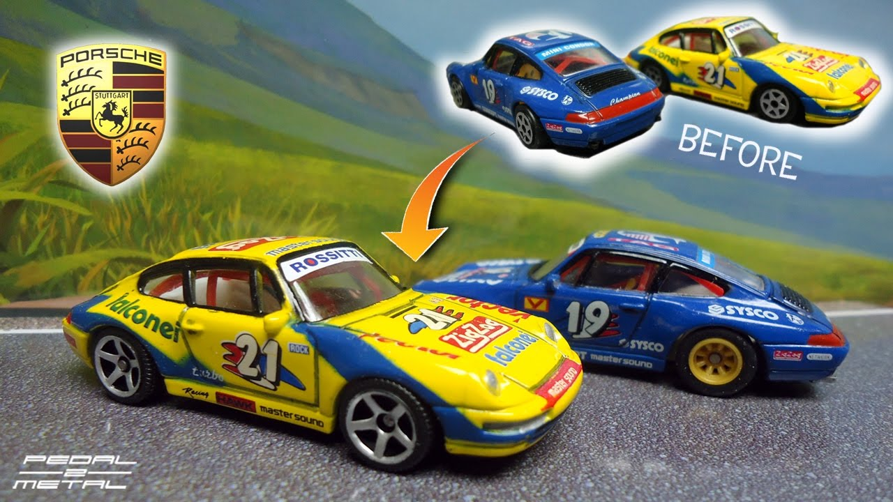 Realtoy Brand Porsche 993 Cup Race Cars  Review  Wheel Swap