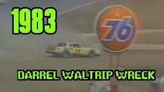 Darrell Waltrip 1983 Daytona 500 huge Crash. **English Commentary**
