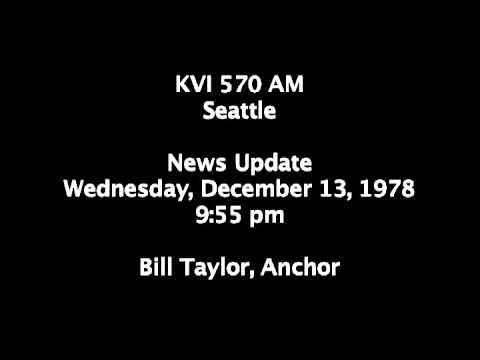 KVI 570 Seattle Radio Newscast December 13, 1978