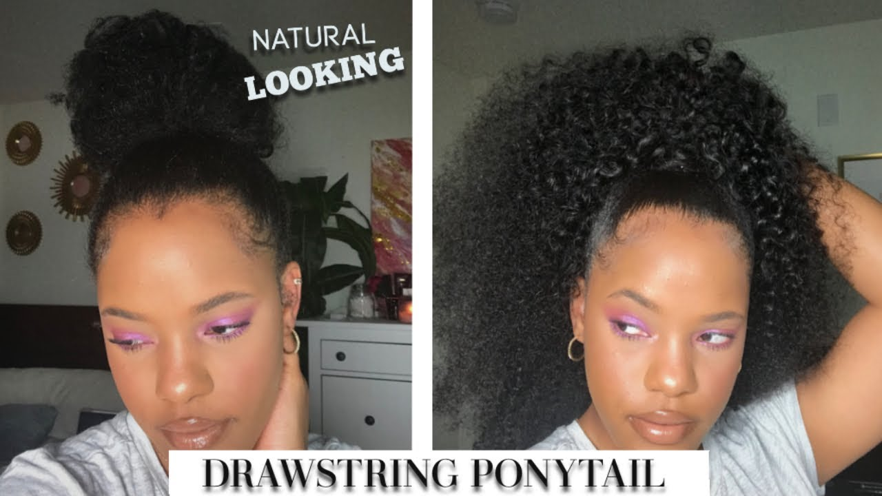 QUICK N' EASY Natural Hair Ponytail ft. MarchQueenHair