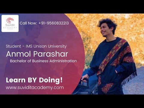 Amol Parashar Testimonial | Digital Marketing Course | Suvidit Academy | IMS Unison University