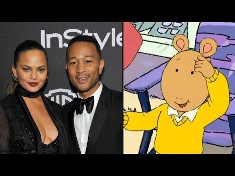 John Legend and Chrissy Teigen Respond to Arthur Cartoon Comparisons in Hilarious Tweet