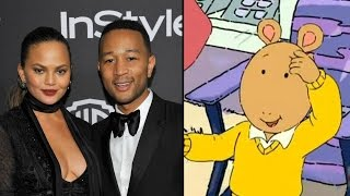 John Legend and Chrissy Teigen Respond to Arthur Cartoon Comparisons in Hilarious Tweet