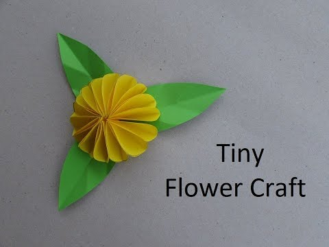 Tiny Flower Craft | How to & Origami | Cindy DIY
