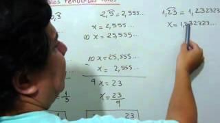 ¿Cómo pasar un decimal periódico puro a fracción?