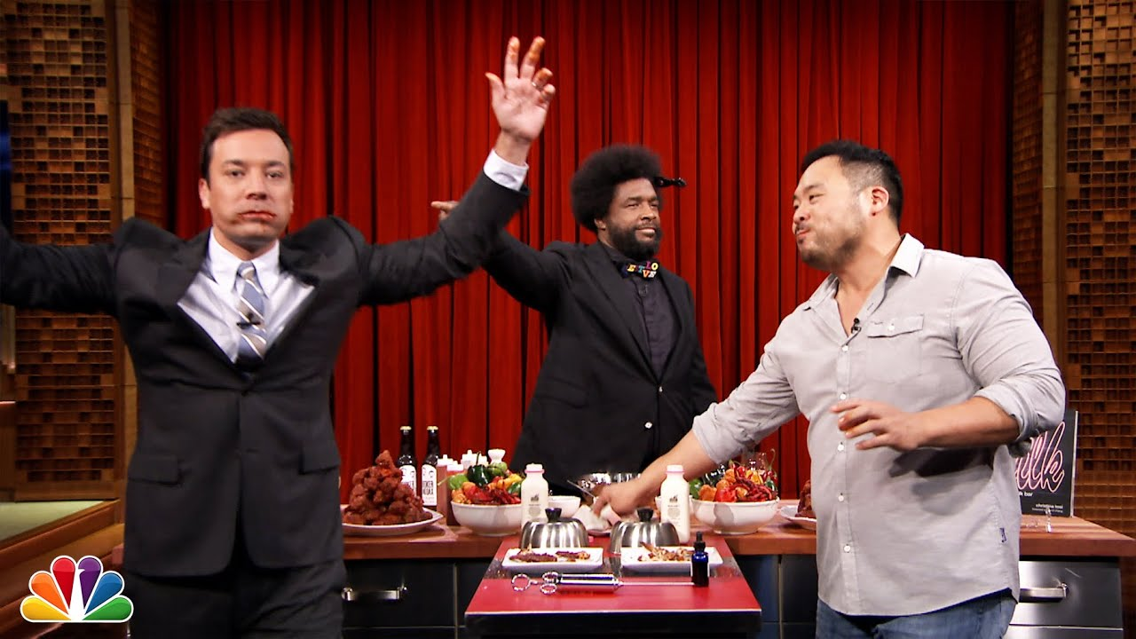 Hot Wing Eating Contest with David Chang - YouTube