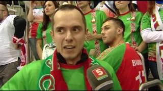 Атмосфера на гандбольном матче Беларусь - Румыния.