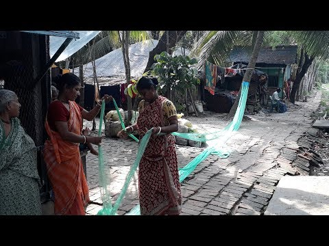 Amazing Fishing Net Making Speedly | Net Making Video 2018