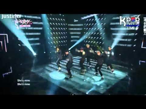 131122 U-Kiss on Music Bank - She's Mine