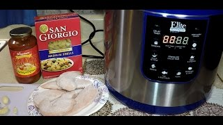 Easy Pressure Cooker Chicken and Pasta in 7 Minutes