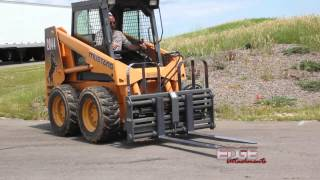 EDGE Hydraulic Sliding Tine Pallet Forks Controlled from Skid Steer Cab Thumbnail