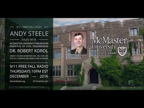 9/11 Free Fall 12/29/16: Dr. Robert Korol