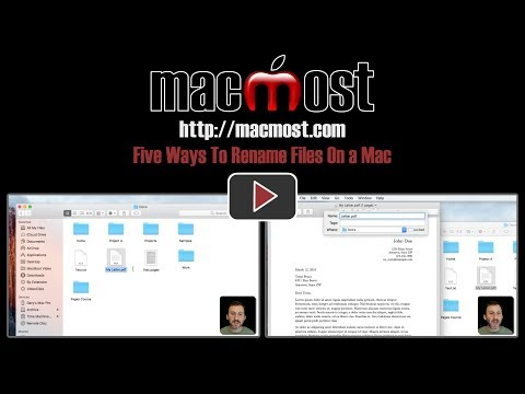 Five Ways To Rename Files On a Mac (#1431)