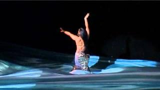 Show-bellydance \The sea. The daughter of the sea tsar\ Yassmin  \Al-Shark\ group