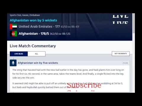 Afghanistan Vs UAE ( ICC Cricket World Cup Qualifier 2018 )