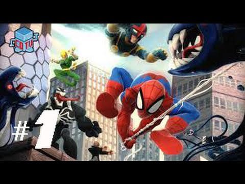 disney infinity 20 spiderman playset part 1 trapped