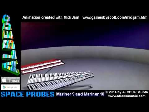 Mariner 9 and Mariner 10 from Space Probes by ALBEDO. Midi Jam. 3D music animation MIDI visualizer.