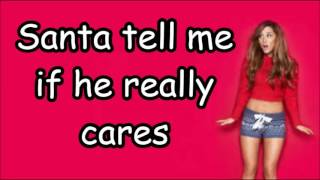 Ariana Grande-Santa tell me lyrics