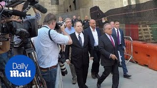 Weinstein leaves court after pleading not guilty to new charges - Daily Mail thumbnail