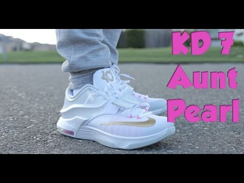 best sneakers 3094c a4019 Nike KD 7 Aunt Pearl   On Feet
