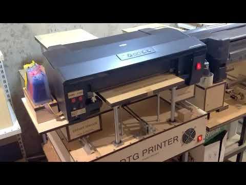 Планшетный принтер для печати по ткани, дереву, пластику, керамике .DTG Printer EPSON Photo 1500W.