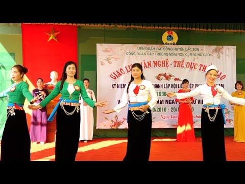 Giao lưu văn nghệ - thể thao 20/10 các trường mầm non vùng cao Lạc Sơn - Hòa Bình