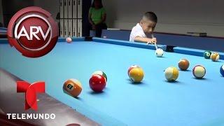 Niño de Perú es todo un campeón del billar | Al Rojo Vivo | Telemundo