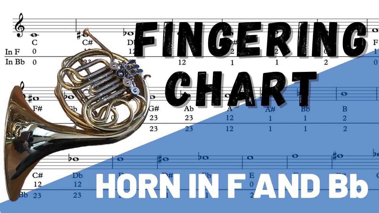 French Horn Fingering Chart Youtube