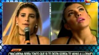 COMBATE: Macarena Vélez discute con Diana Sánchez
