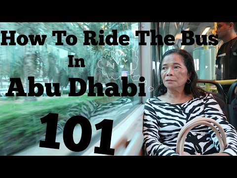 How to Ride the Bus in Abu Dhabi  + Iftar Preview at Khalidiya Palace | UAE | Joan Farillon