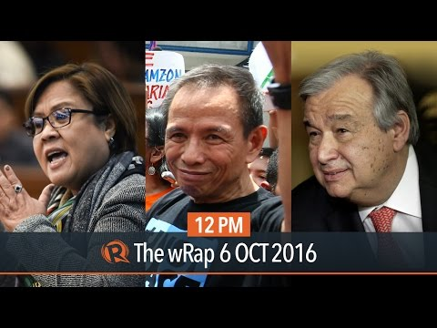 De Lima and Dayan, National Democratic Front, new UN secretary-general | 12PM wRap