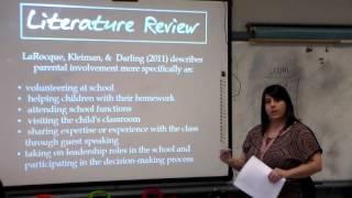 Parental Involvement-Nichole West
