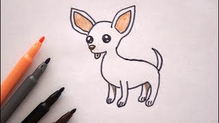 Chihuahua malen - Hund zeichnen - How to draw a Dog - Chihuahua drawing - Как Нарисовать чихуахуа