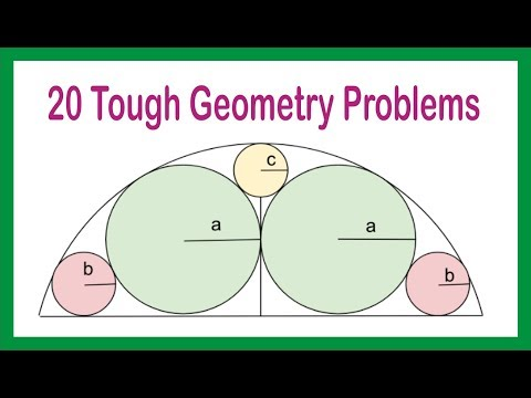 Tough and challenging Geometry Problems for CAT and SSC CGL