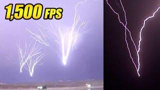 Amazing UPWARD Lightning in Super Slow Motion!