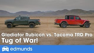 2020 Toyota Tacoma TRD Pro vs. 2020 Jeep Gladiator Rubicon ― Truck Tug of War