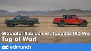 Gambar cover 2020 Toyota Tacoma TRD Pro vs. 2020 Jeep Gladiator Rubicon ― Truck Tug of War