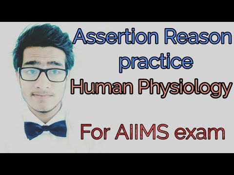 Human physiology Assertion Reason practice questions for AIIMS.