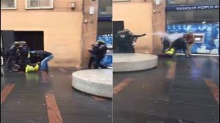 manif gilet jaune toulouse bagarre avec La police
