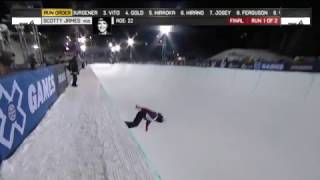 Scotty James wins Halfpipe Finals X Games Aspen 2017 スコッティジェームス 検索動画 16