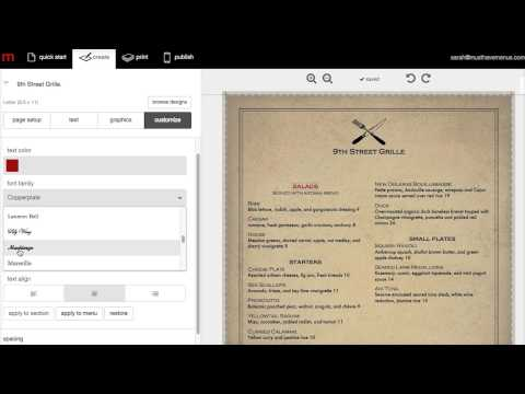 How to Make a Restaurant Menu