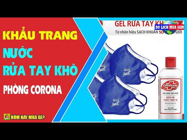 Khẩu Trang, Nước Rửa Tay Khô Phòng Dịch Corona 🔴 Du Lịch Mua Sắm
