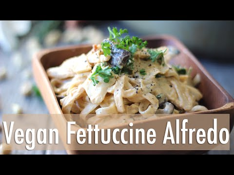 Easy Mushroom Fettuccine Alfredo | Vegan & Gluten Free