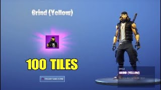 HOW TO CHANGE COLOR OF 100 TILES! YELLOW GRIND SKIN! FORTNITE: BATTLE ROYALE*