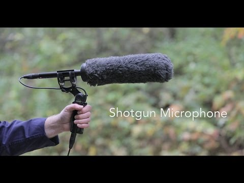 How To Record Audio  - Shotgun Microphone