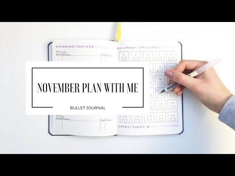 NOVEMBER PLAN WITH ME | Bullet Journal