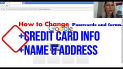 How To Change Your Credit Card Information on Google Chrome Browser