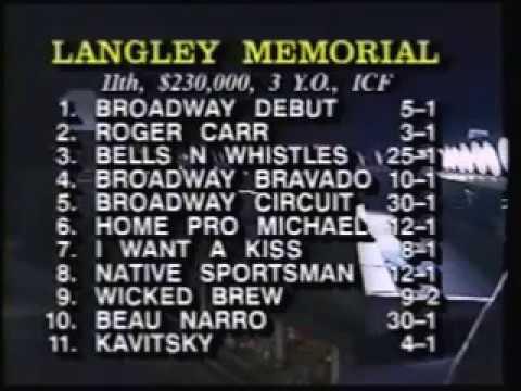 1992 Sportsman's Park WICKED BREW Langley Memorial Final Doug Larsen